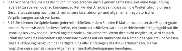 Lapalingo Konto Löschen