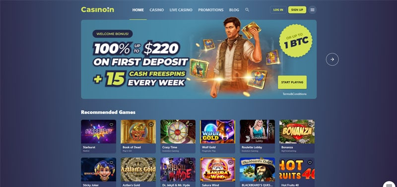Casinoin Bonus Code
