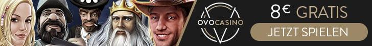 OVO Casino 100€ Gutscheincode